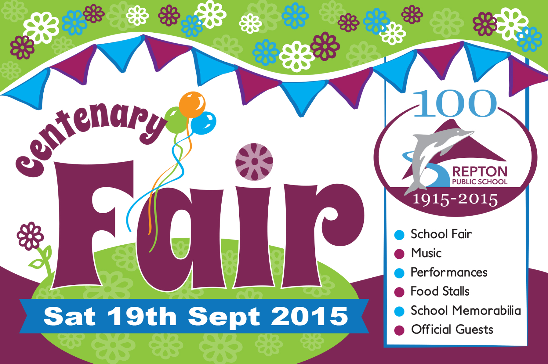 Centenary Fair Saturday 19th September, 2015